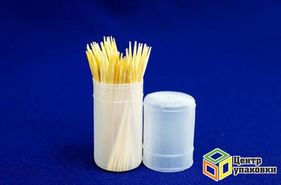 Зубочистки в пласт банке 100шт (1-480-12шт)