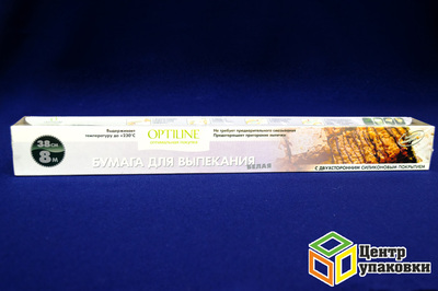Бумага для выпечки 38-8м белая Optiline (1-25шт)
