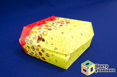 Коробка для гамбургера Fast Food 110×110×60мм (1-300-150шт.)