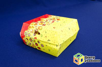 Коробка для гамбургера Fast Food 120×120×70мм (1-300-150шт.)