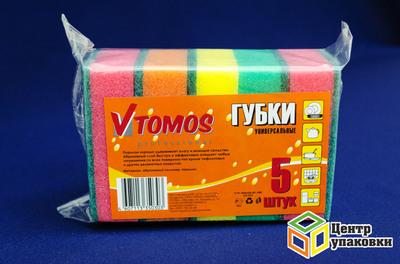 Губка дпосуды 6595мм с абразивом (1-40-5шт) ToMoS