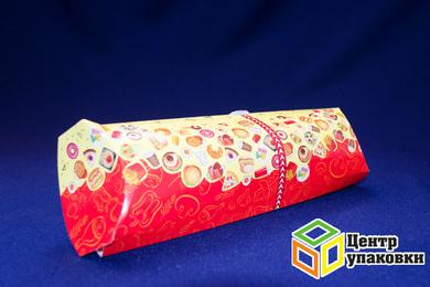 Коробка для роллов (шаурмы) Fast Food 210×80×60мм (1-400-100шт.)