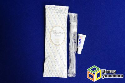 Набор зубной Силуэт (зубная щётка + тюбик, 4 г) флопак (1-500шт)