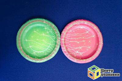 Тарелка картон Д 180 Звездопад лам (500-10-1шт)