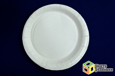 Тарелка картон Д 230 кругл белая не лам (1250шт)