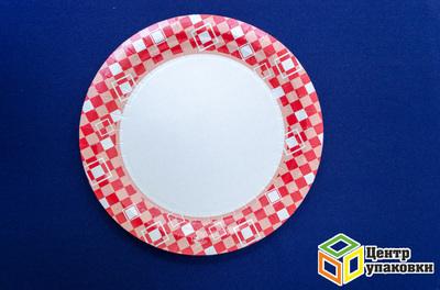 Тарелка картон Д 230 кругл микс с рис в ассорт (1-500-10шт)