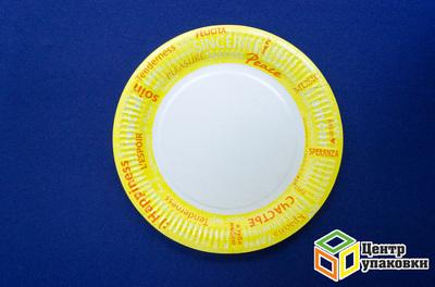 Тарелка картон Д 230 кругл Fiesta ламин (1-1000-100шт)