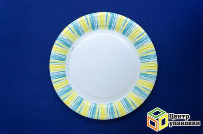 Тарелка картон Д 230 солнышко (150050шт)
