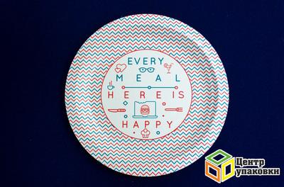 Тарелка картон Д 230 Happy Live солнышко (150050шт)