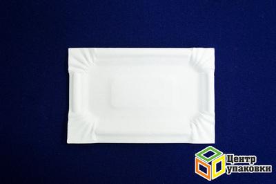Тарелка картон 1117см белая, ламин (12000100шт) Молоко