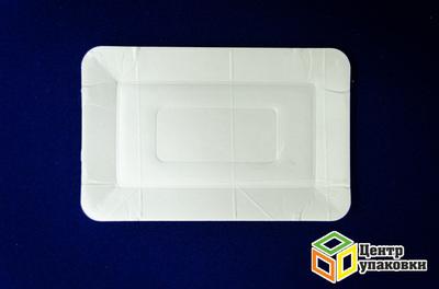 Тарелка картон 1320см белая, ламини (11000100шт)