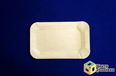 Тарелка картон 1320см белая, ламини (11500100шт) Молоко