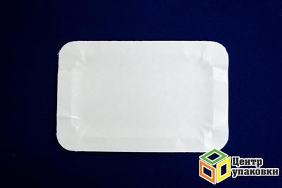 Тарелка картон 1320см белая, не ламин (11800100шт)