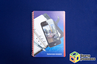 Записная книжка А5 40листов, спираль, Смартфон-3 (1-80шт.)