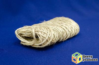 Шпагат льняной 2х нит полир в бобинах 100м (1-49шт)