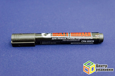 Маркер перманентный Mulri-Marker CPM-800СН 5мм скошенный черный CROWN (1-12шт.)
