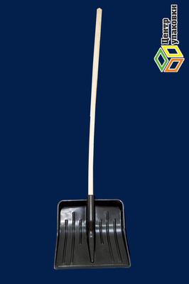 Лопата пластиковая для уборки снега с черенком (16шт)