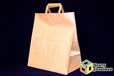 Пакет-сумка крафт 24+14-28см бп (1300шт)