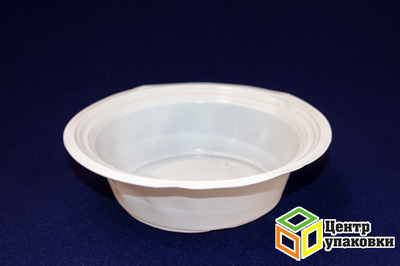 Миска суповая 400мл РР (1-2100-50шт) белая Зима