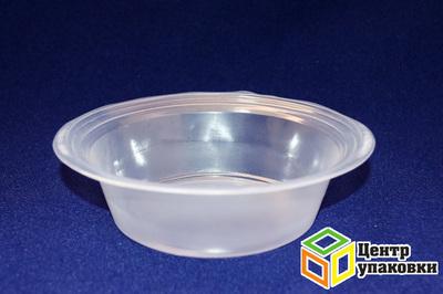 Миска суповая 400мл РР (1-2100-50шт) прозр Зима