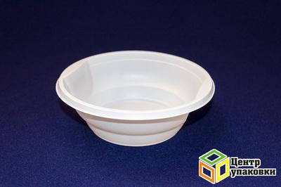 Миска суповая 500мл РР (1-1000-50шт) белая Стирол
