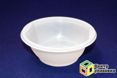 Миска суповая 600мл РР (1-1000-50шт) бел Мистерия