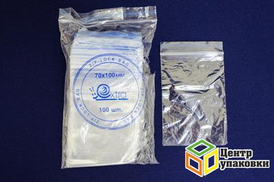 Пакет с замком 70-100мм (1-16000-100шт) EXTRA