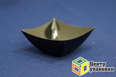 Форма фуршетная Квадрат 70×70мм, 90мл черная (1-500-25шт.)