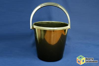 Ведро черное 10л (1-10шт)