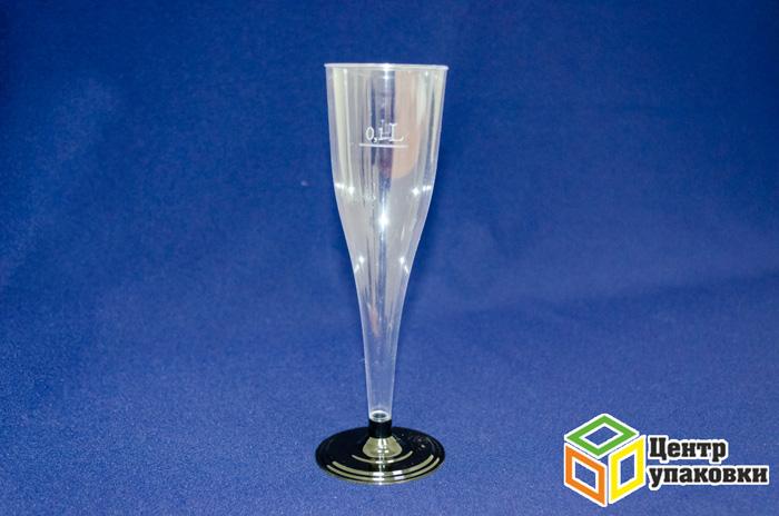 Фужер 180мл Ди-Пласт прозрачный для шампанского (1-564-6шт.)