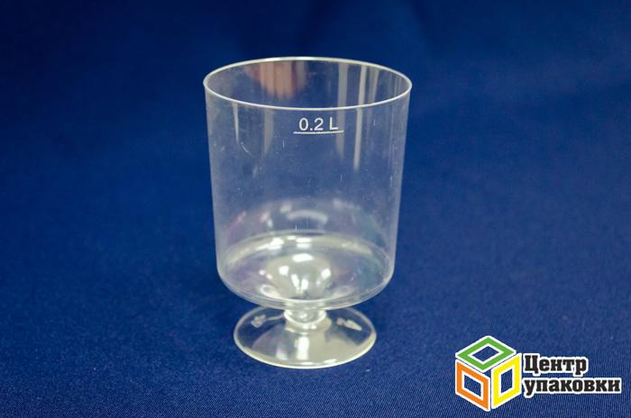 Бокал 200мл Ди-Пласт двина (1-540-10шт.)
