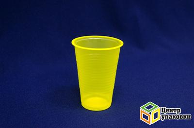 Стакан 200мл желтый (13000100шт) ИП