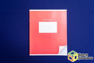 Тетрадь 24листа (клетка) однотонная суголком 5142 (1-180шт.)