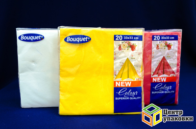 Салфетки 33-33 2сл цвета в ассорт 20л (112шт)