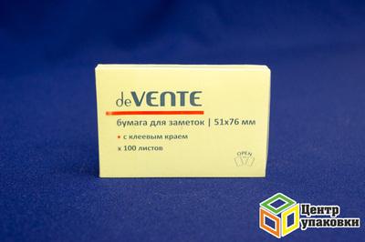 Стикеры 51×76мм deVENTE желтые (1-12шт.)