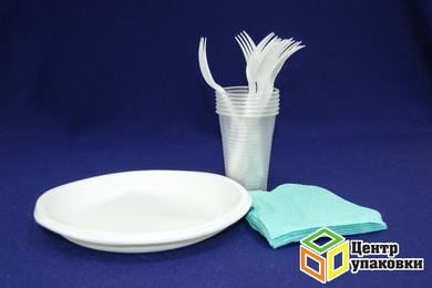 Набор Fiesta по6шт. (тарелки+ салфетки+ стаканы+ вилки) (1-28уп.)