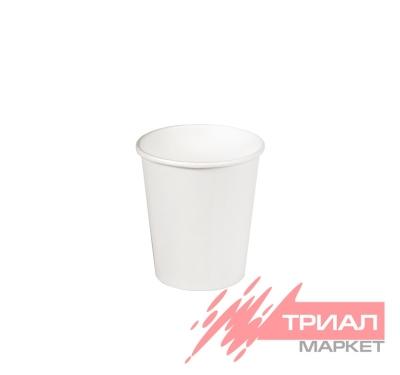 Стакан 170мл бумажный d=70мм белый для горячего (80 шт.)