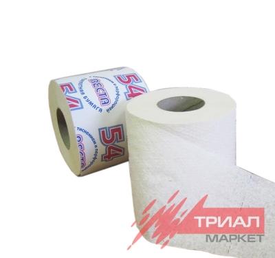 Туалетная бумага 1сл ФЛОРА белая