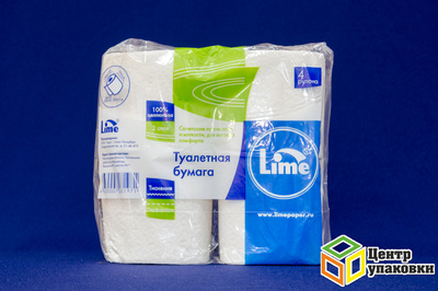 Туал.бумага Белая Lime 2cл 4рул (1-24шт)