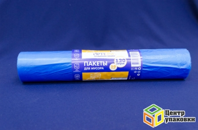Мус. пакет ПНД 120л 70-110 синий Optiline (1-20-50шт в рул)