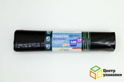 Мус.пакет ПВД 160л Z-слож 90-110см черн OPNILINE 35 (1-25-10шт)